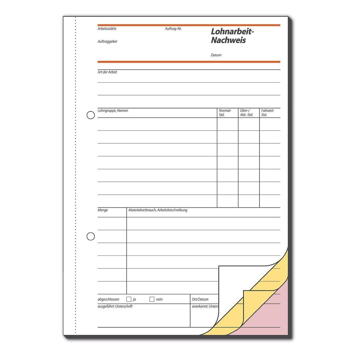 Sigel Formularbuch »Lohnarbeits-Nachweis«