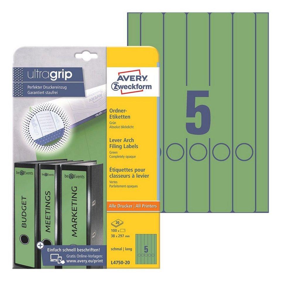 Avery Zweckform Ordnerrücken-Etiketten in grün