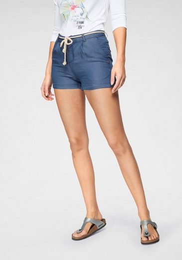 TOM TAILOR Polo Team Shorts in modischer Jeans-Chambray-Optik