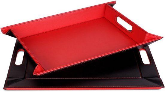 freeform Tablett, Kunstleder, (1-tlg), mit Doppelfunktion