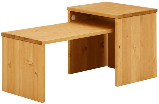 Home affaire Couchtisch »Leinz« (Set, 2-St), aus massiver Kiefer, Tischplatten in zwei Stärken erhältlich, Breite 100 cm
