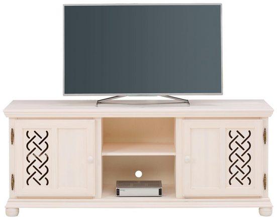 Home affaire Lowboard »Luna«, aus massiver Kiefer,0 mit dekorativen Fräsungen