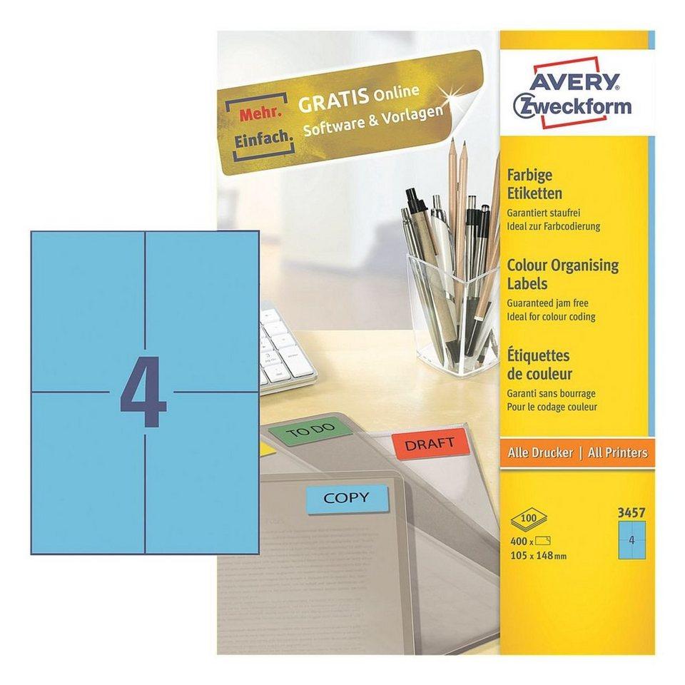 Avery Zweckform 400er-Pack Farbige Etiketten in blau