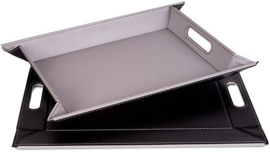 freeform Tablett, Kunstleder, (1-tlg), mit Doppelfunktion, 35 x 45 cm