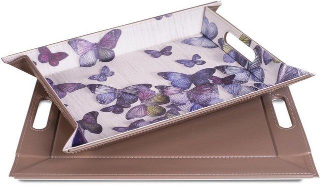 freeform Tablett »Schmetterling«, Kunstleder, (1-tlg), mit Doppelfunktion, Gr. 35x 45 cm