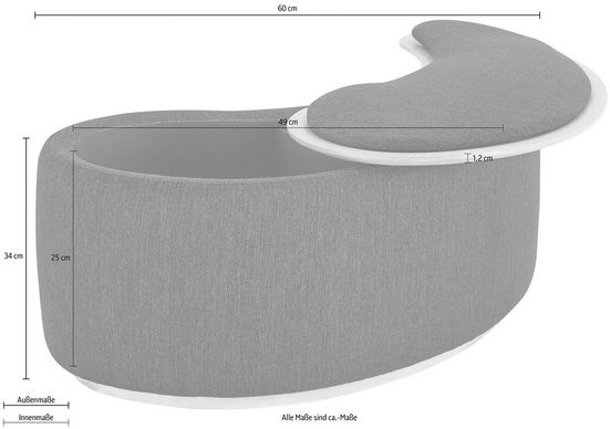 andas Beistelltisch »Larsen«  in Pouf-Optik  mit schönem Strukturstoff  Design by Morten Georgsen