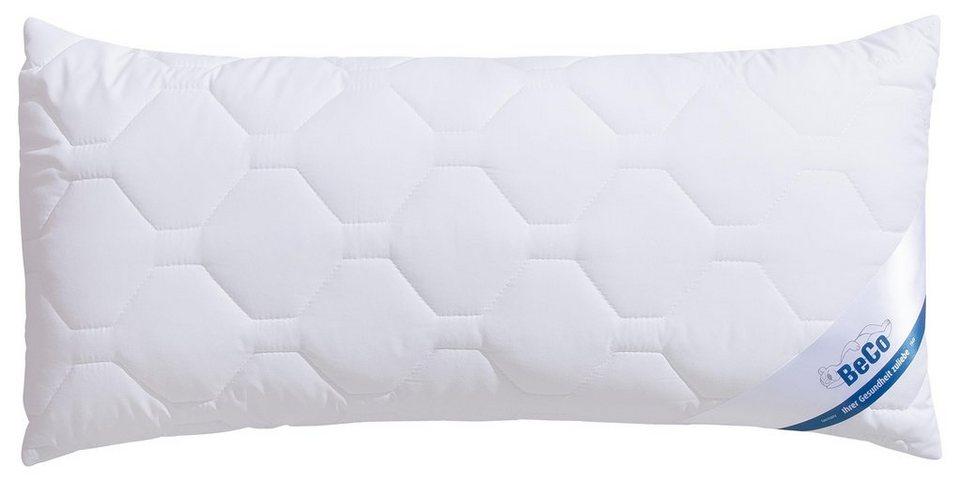 Kunstfaserkopfkissen Antibac Beco Fullung Faserballchen 100 Polyester Bezug 100 Baumwolle 1 Tlg Bezug Von Hohenstein Getestet