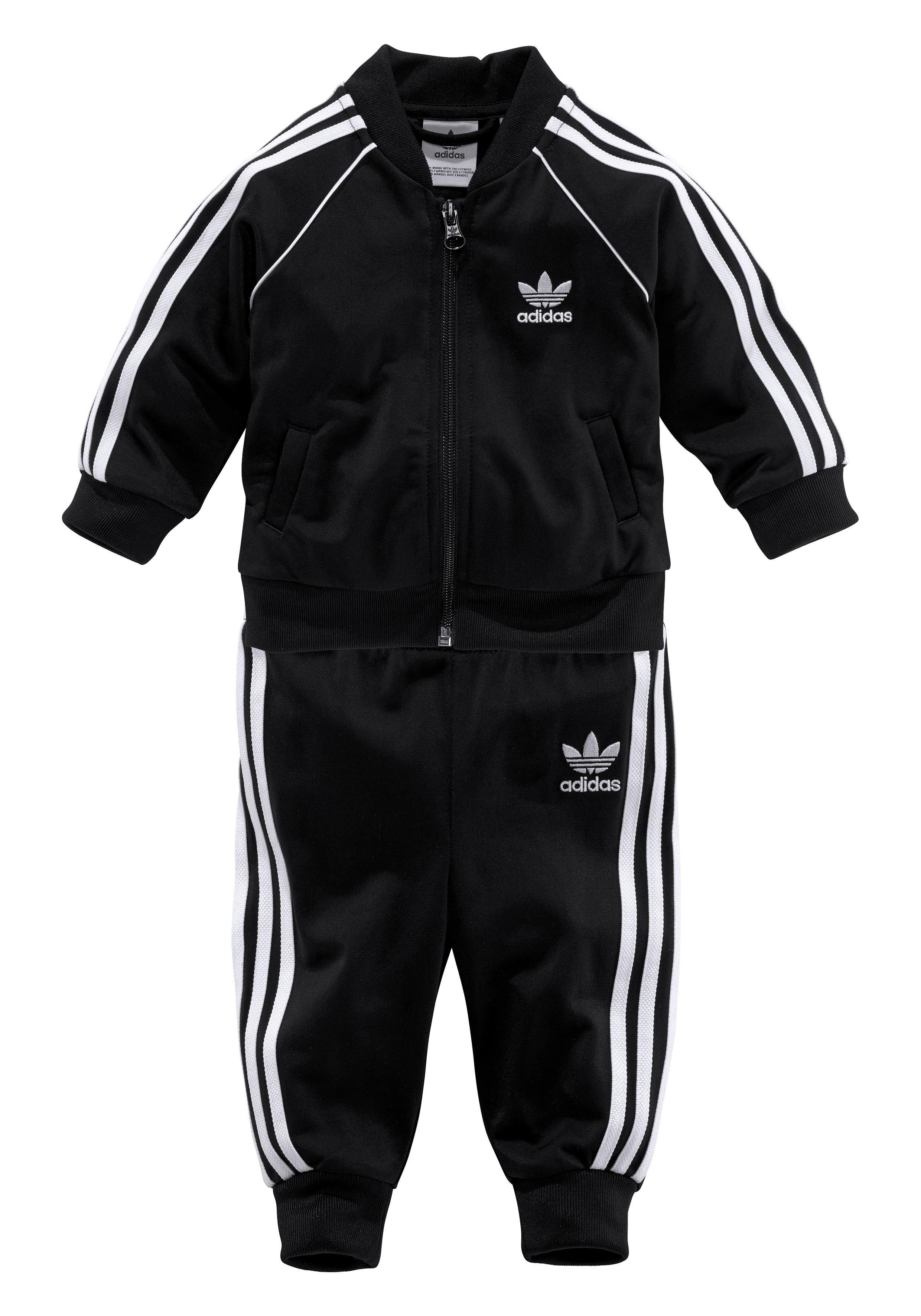 Unisex adidas Originals Trainingsanzug »SUPERSTAR SUIT« (Set, 2-tlg) rot, schwarz   04060515223871