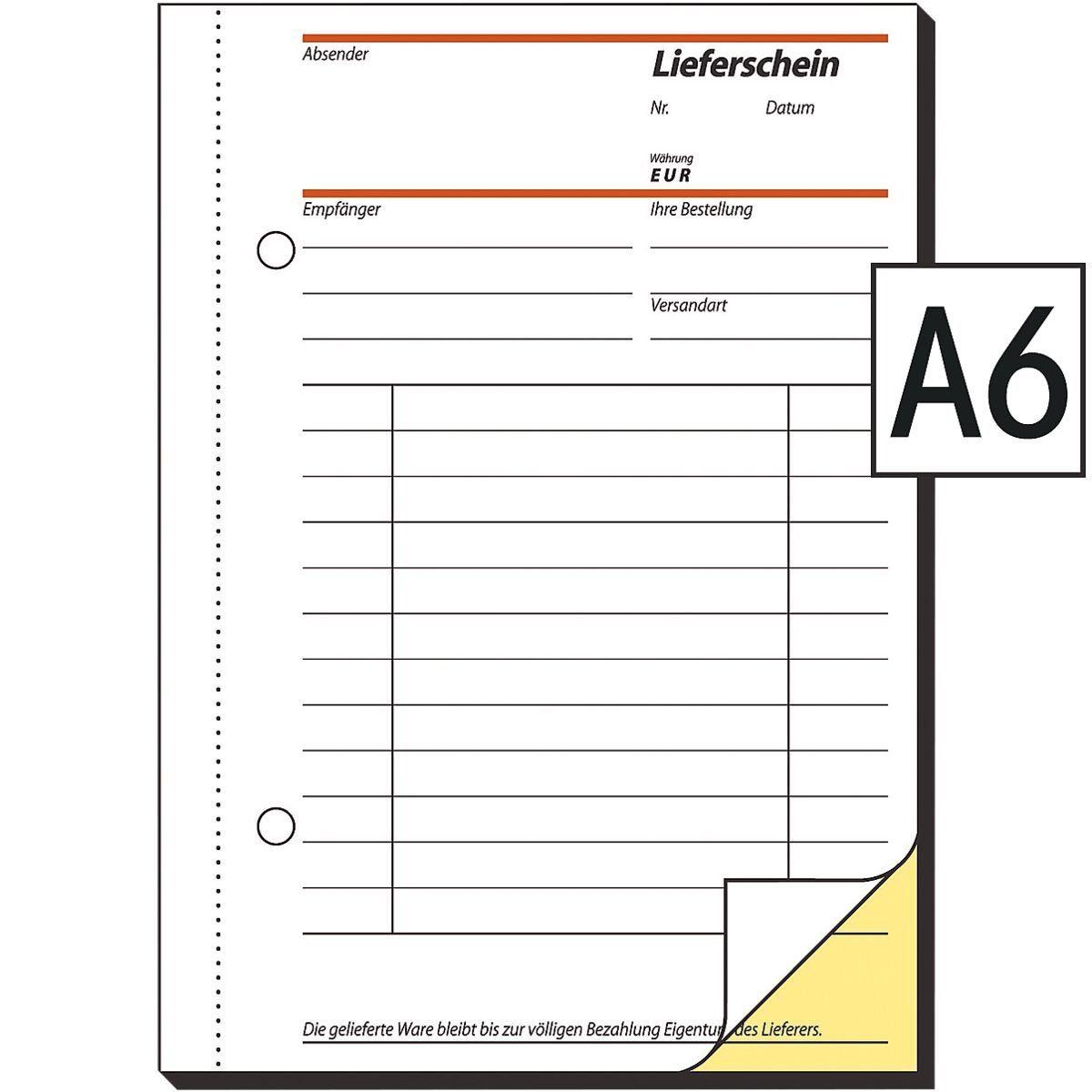 Sigel Formularbuch SD013 »Lieferschein mit Empfangsschein«