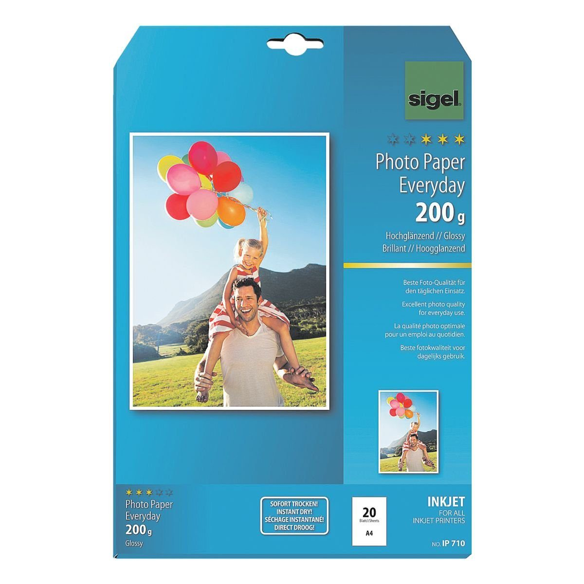 Sigel-Premium Foto Inkjet-Papier A4 200 g/m² 20 Blatt »Everyday Plus«