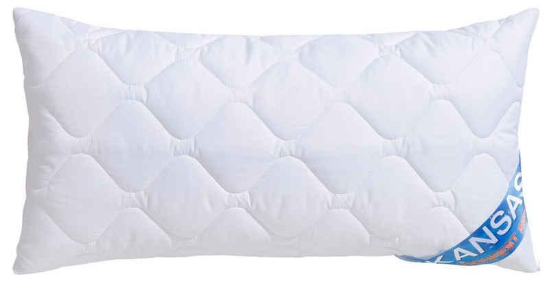 Kunstfaserkopfkissen, »Kansas«, fan Schlafkomfort Exklusiv, Bezug: 100% Baumwolle, (1-tlg)