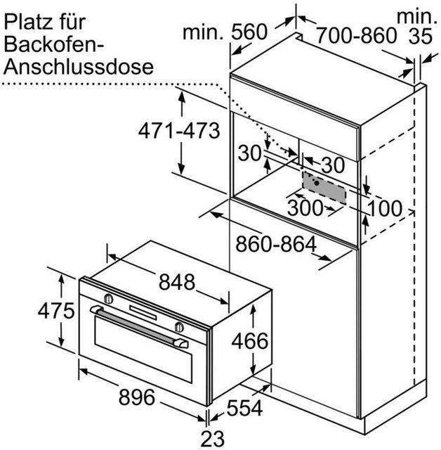 Küchengroßgeräte - SIEMENS Einbaubackofen iQ500 VB558C0S0, mit 1 fach Teleskopauszug  - Onlineshop OTTO