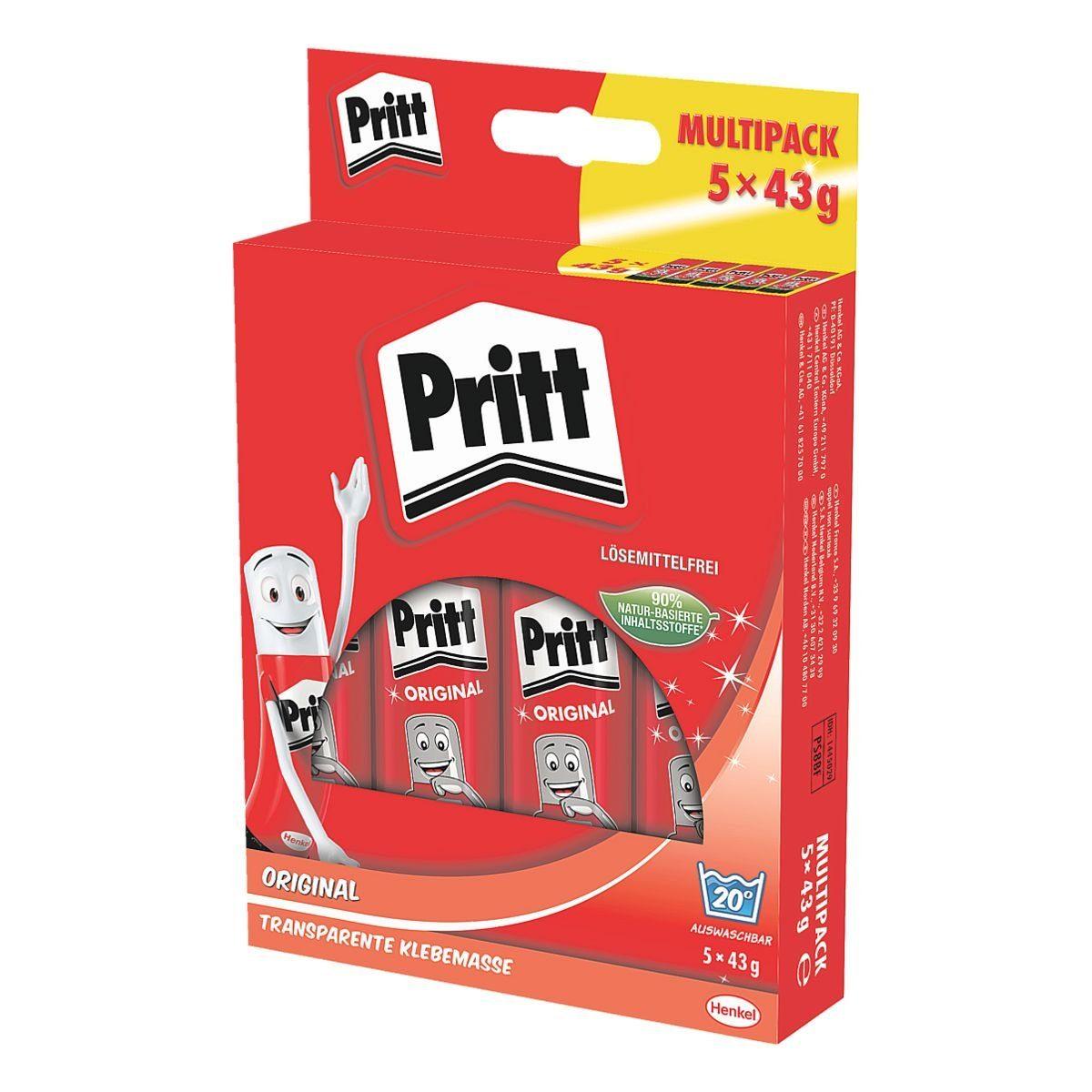 Pritt 5er-Pack Klebestifte à 43 g »Stick«