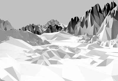Komar Fototapete »Icefields«, glatt, bedruckt, 3D-Optik, Stadt, (Set), ausgezeichnet lichtbeständig