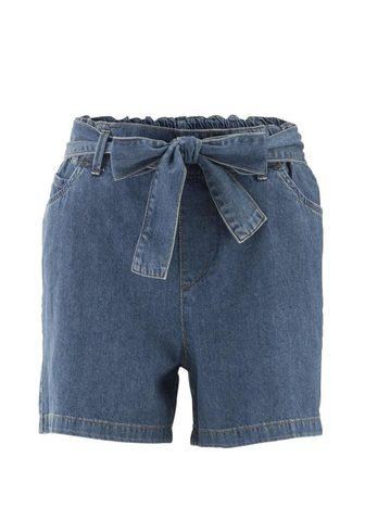 HEINE CASUAL шорты джинсовые с эластичный по...