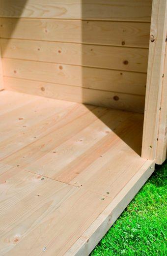 KARIBU Fußboden für Gartenhäuser für Sockelmaß 370x370 cm