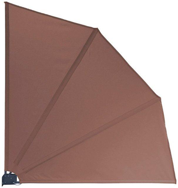 QUICK STAR Balkonsichtschutz »Fächer«, BxH: 140x140 cm   Garten > Balkon > Sichtschutz   Braun   Polyester   Quick Star