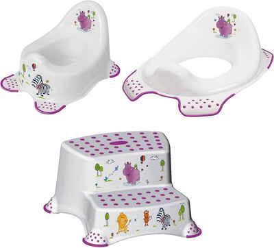 keeeper Töpfchen »Hippo, weiß«, (Set, 3-tlg), Kinderpflege-Set - Töpfchen, Toilettensitz und Tritthocker; Made in Europe