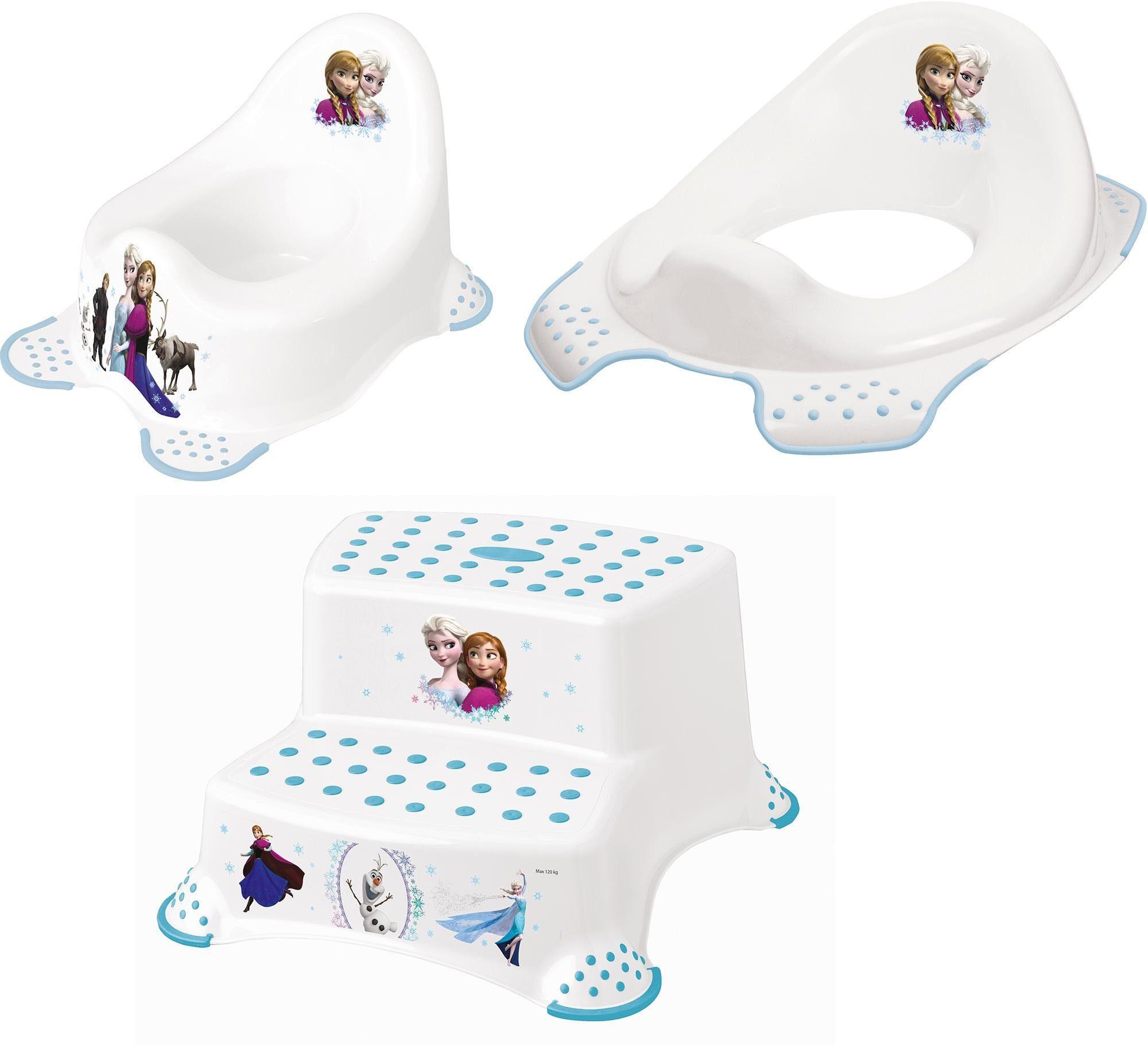 keeeper 3-tlg. Kinderpflege-Set - Töpfchen, Toilettensitz und Tritthocker, »Frozen«