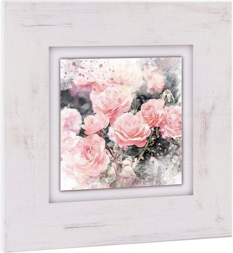 Home affaire Holzbild »Wilde Rosen«, 40/40 cm