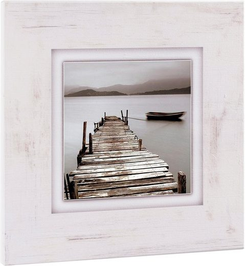 Home affaire Holzbild »Steg«, 40/40 cm