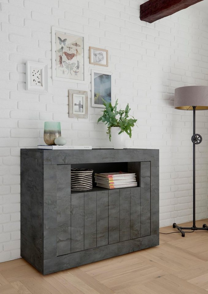 LC Sideboard Urbino  Breite 110 cm grau | 08024963404615