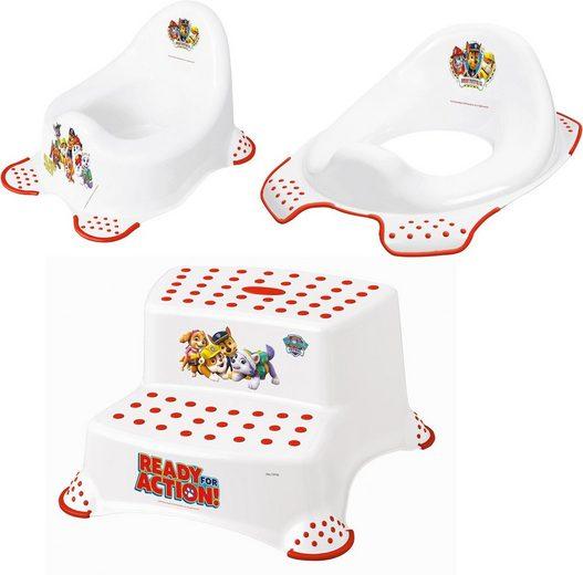 keeeper Töpfchen »Paw Patrol«, (Set, 3-tlg), Kinderpflege-Set - Töpfchen, Toilettensitz und Tritthocker; Made in Europe