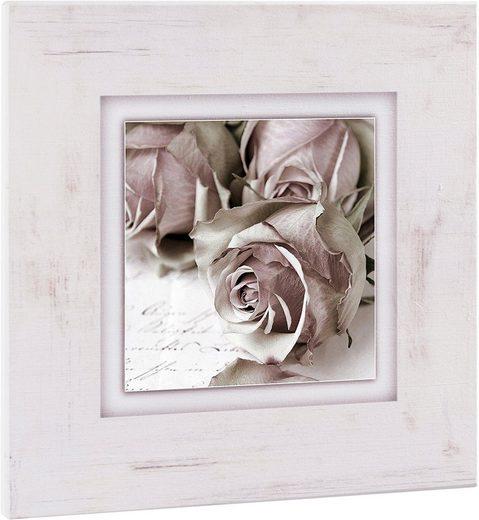Home affaire Holzbild »Rosen«, 40/40 cm