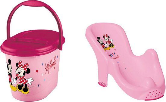 keeeper Badesitz »Kinderpflege-Set Minnie Mouse«, Badesitz und Windeleimer