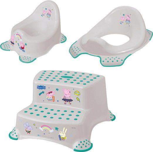 keeeper Töpfchen »Peppa Pig«, (Set, 3-tlg), Kinderpflege-Set - Töpfchen, Toilettensitz und Tritthocker; Made in Europe
