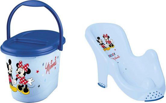 keeeper Badesitz »Kinderpflege-Set Mickey Mouse«, Badesitz und Windeleimer