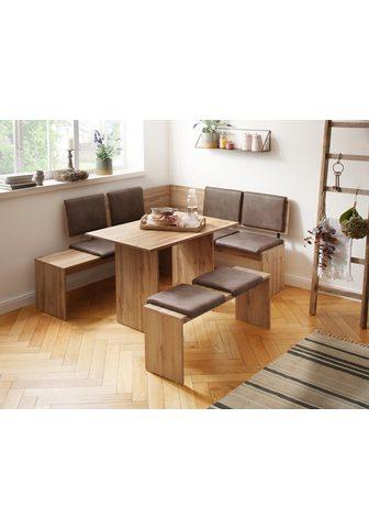 HOME AFFAIRE Kampinis virtuvės suolas su kėdėmis »E...