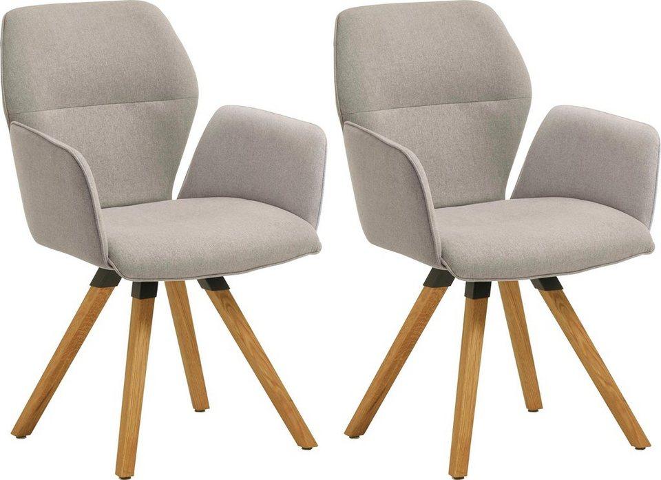 Niehoff Sitzmobel Armlehnstuhl Merlot 2632 47 Gestell Aus Massivem Eichenholz 2er Set Online Kaufen Otto