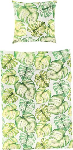 Bettwäsche »Verde«, BIERBAUM, mit Blättern