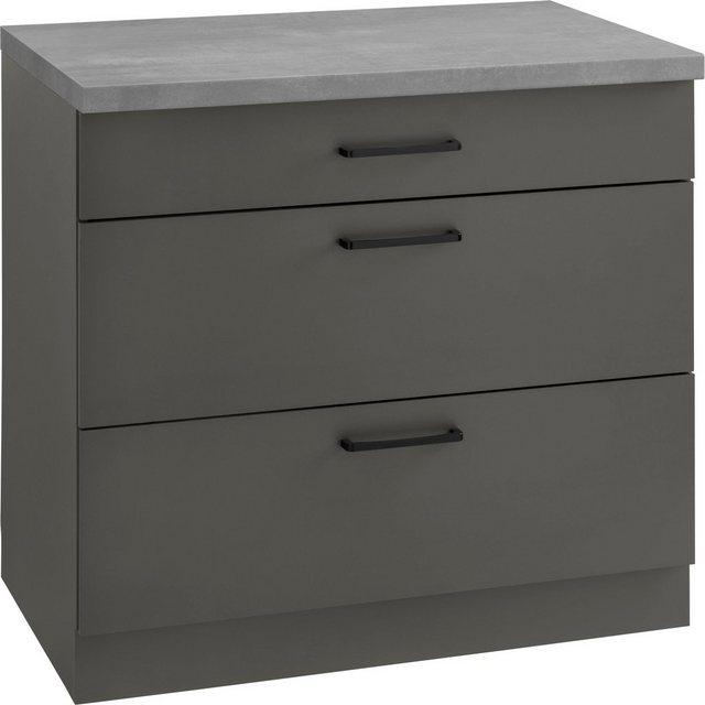 Küchenschränke - wiho Küchen Unterschrank »Esbo« 90 cm breit, mit 2 großen Auszügen  - Onlineshop OTTO