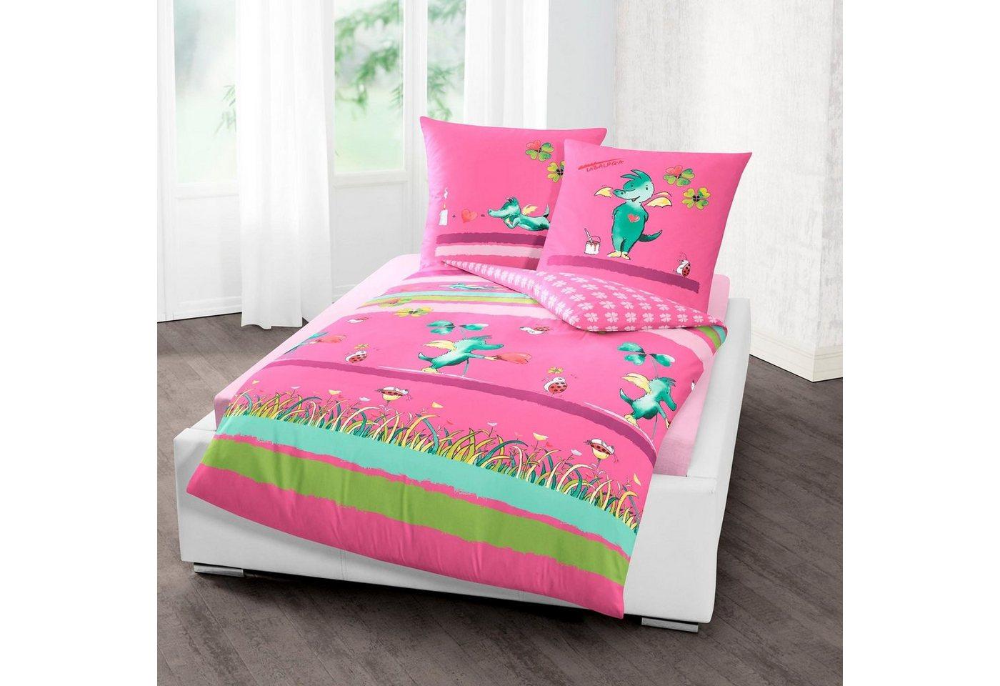 Kinderbettwäsche »Kleeblatt«, TABALUGA, mit Tabaluga | Kinderzimmer > Textilien für Kinder > Kinderbettwäsche | Rosa | TABALUGA