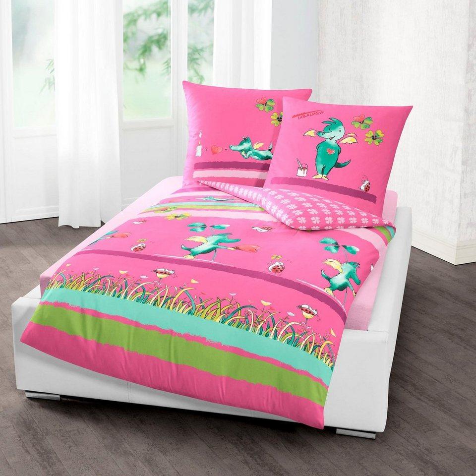 Dragons Wende-Bettwäsche-Set Bettbezug Baumwolle Kinderbettwäsche Drachen Bezug