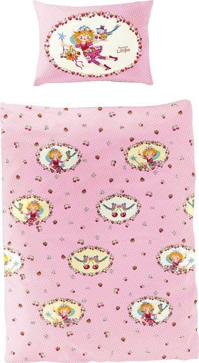 Kinderbettwäsche »Kirsche«, Prinzessin Lillifee, mit Prinzessin Lillifee und Kirschen   Kinderzimmer > Textilien für Kinder > Kinderbettwäsche   Rosa   Prinzessin Lillifee
