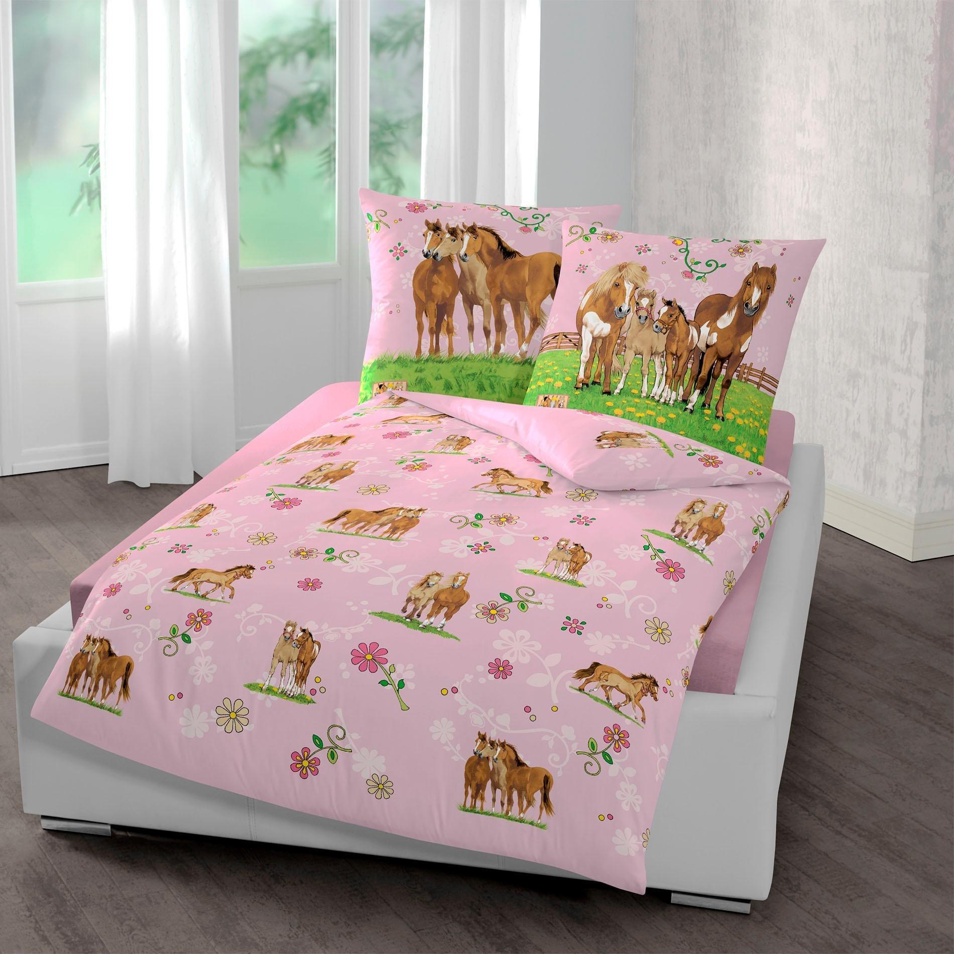 Kinderbettwäsche »Pferde«, , mit Pferden