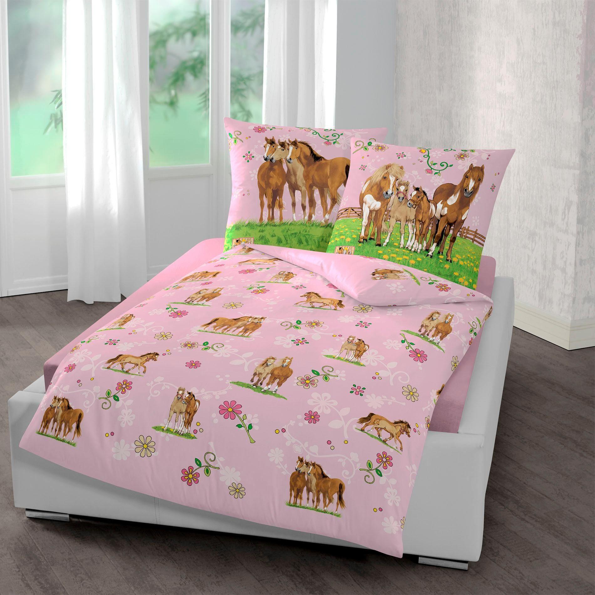 Kinderbettwäsche »Pferde«, Pferdefreunde, mit Pferden