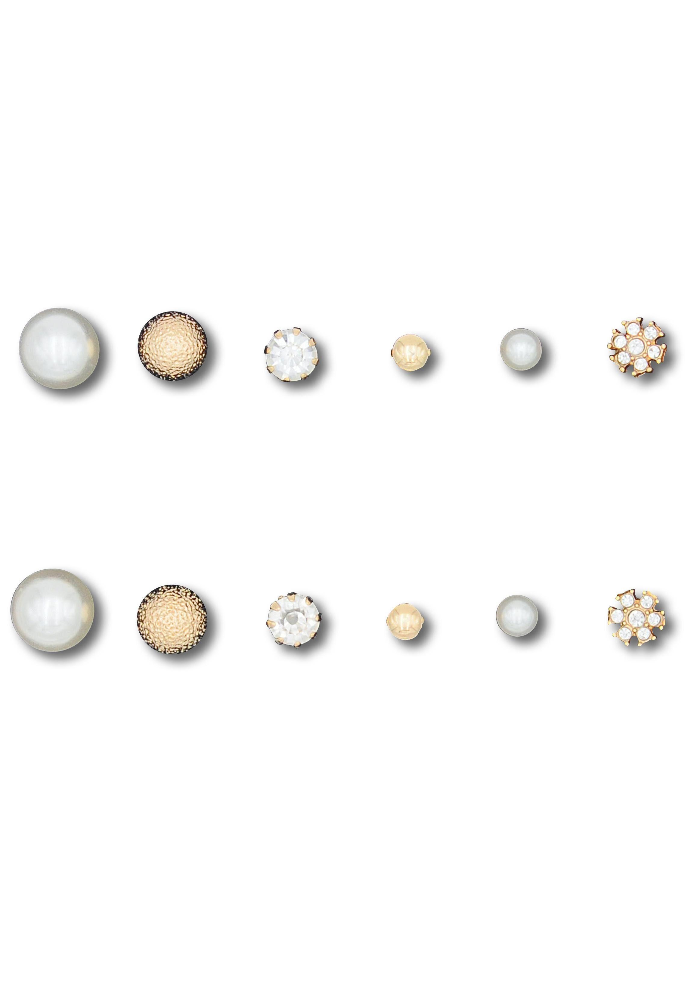 J.Jayz Ohrstecker-Set »O17070« (Set, 12 tlg) mit Glassteinen und -perlen