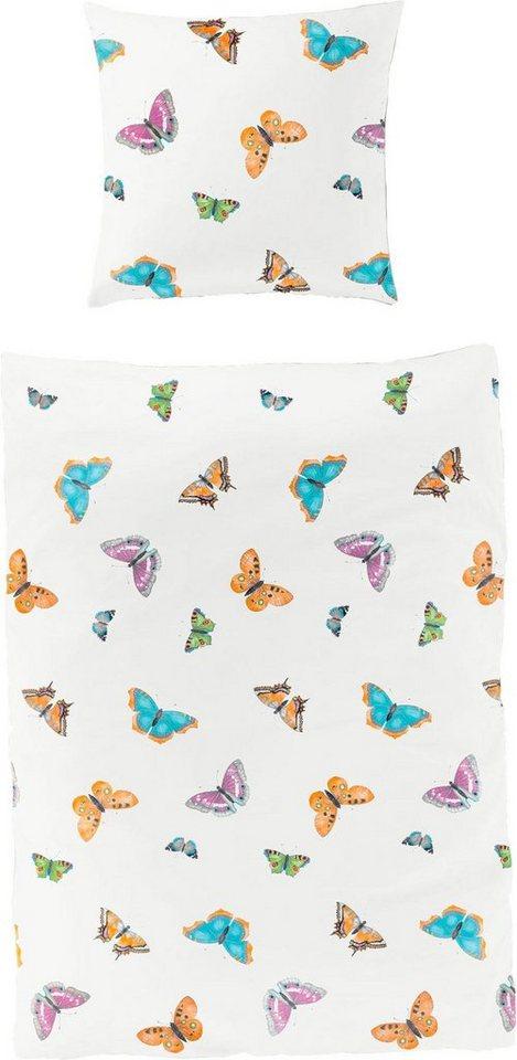 Bettwasche Saca Bierbaum Mit Schmetterlingen Otto