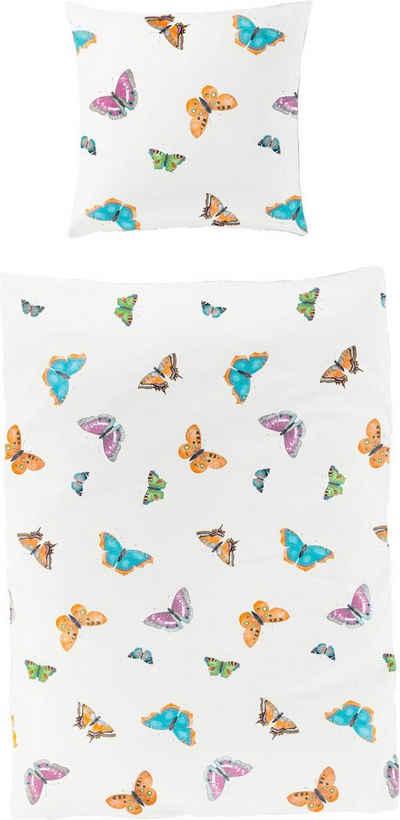 Bettwäsche »Saca«, BIERBAUM, mit Schmetterlingen