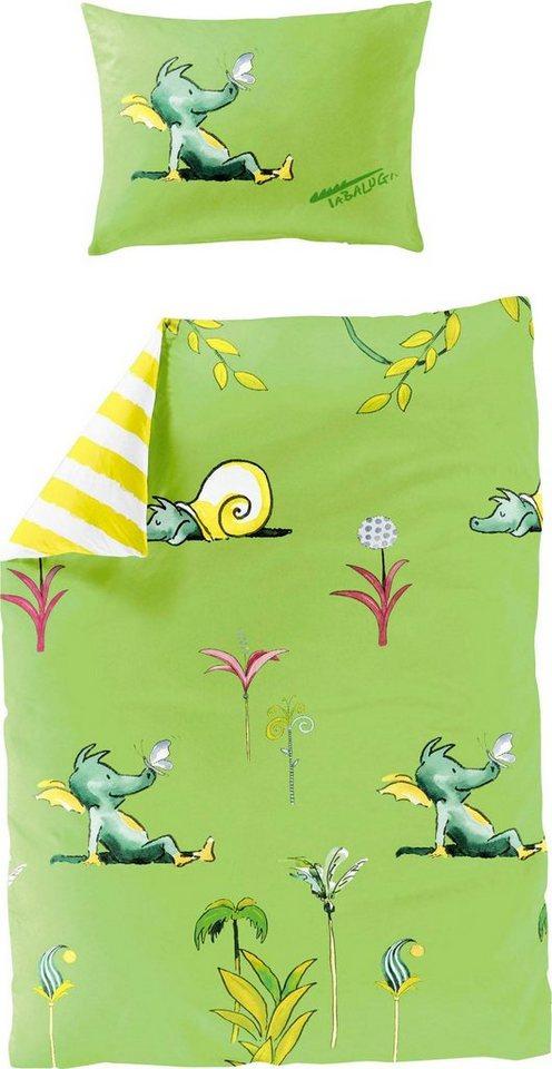 Kinderbettwäsche »Schmetterling«, TABALUGA, mit Tabaluga | Kinderzimmer > Textilien für Kinder > Kinderbettwäsche | Grün | TABALUGA