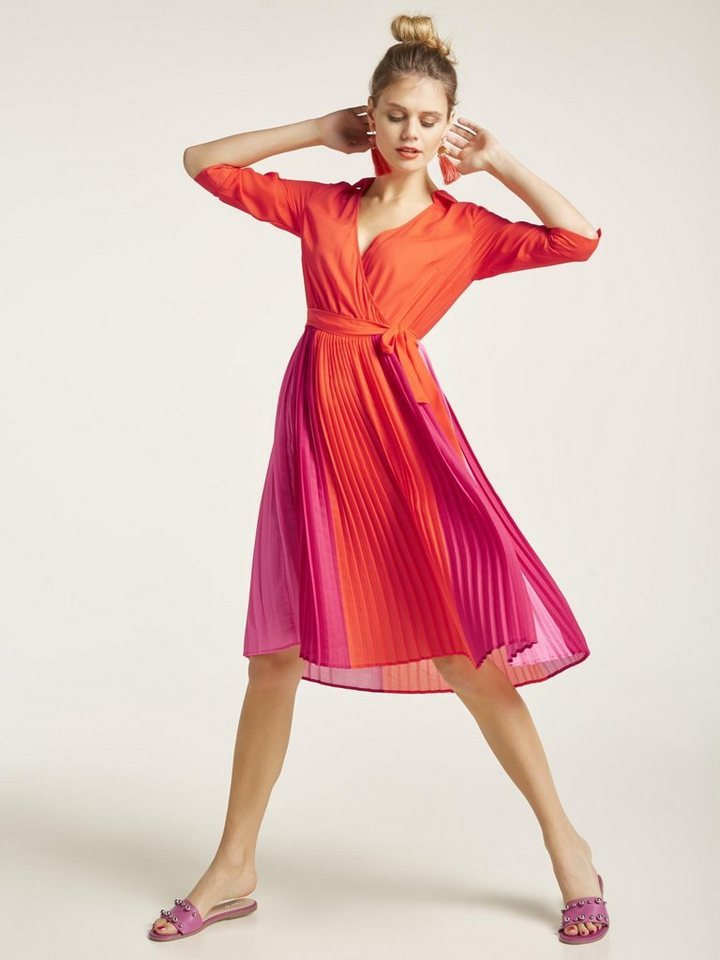 f983ffdef6514d heine STYLE Kleid mit plissiertem Rockteil kaufen | OTTO
