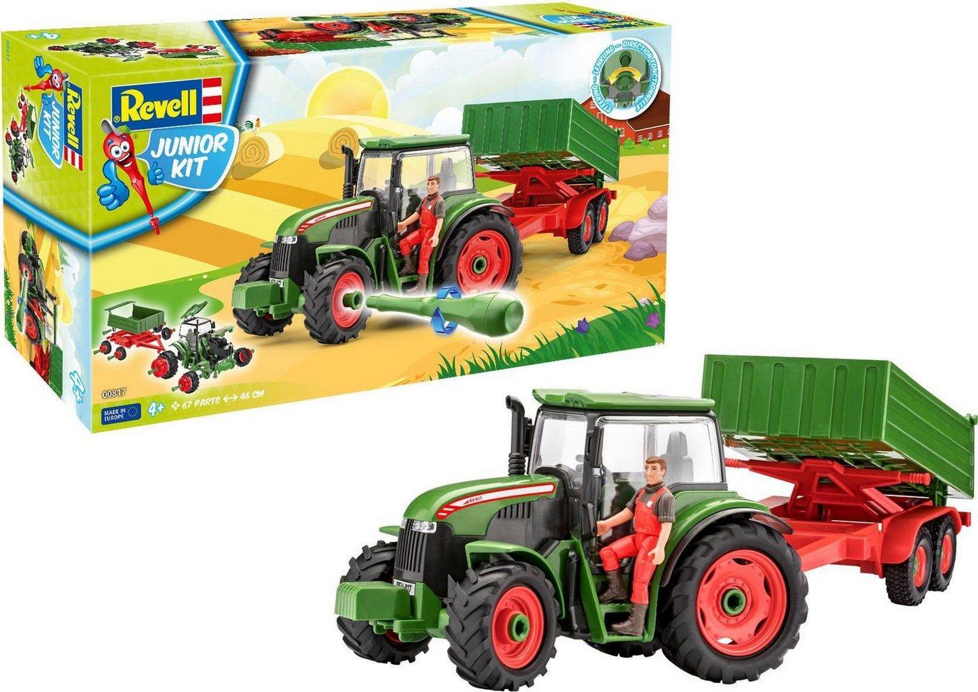 Revell Modellbausatz, »Junior Kit Traktor & Anhänger, grün mit Figur«
