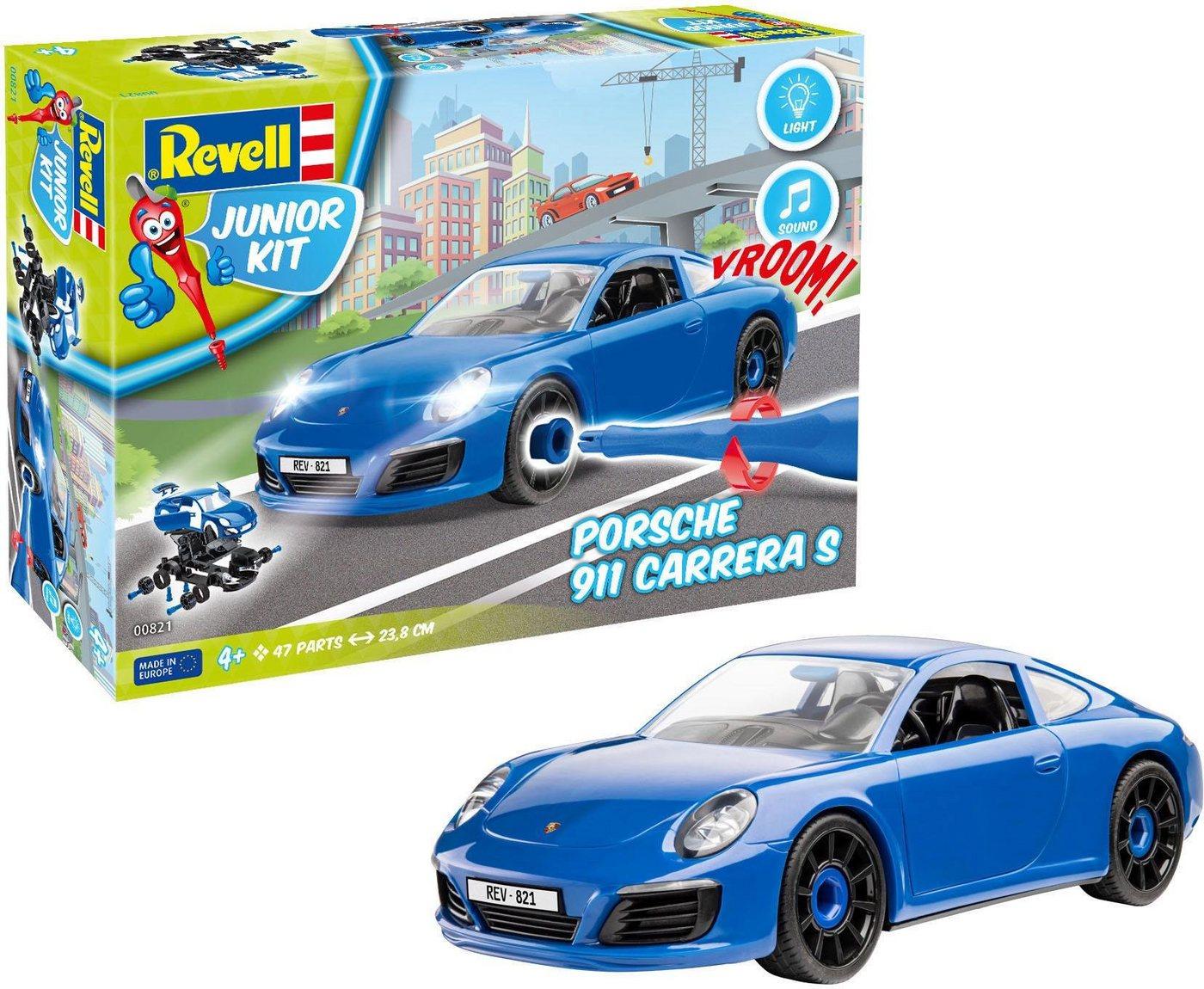 Revell Modellbausatz Auto mit Licht und Sound, »Junior Kit Porsche 911 Carrera S«