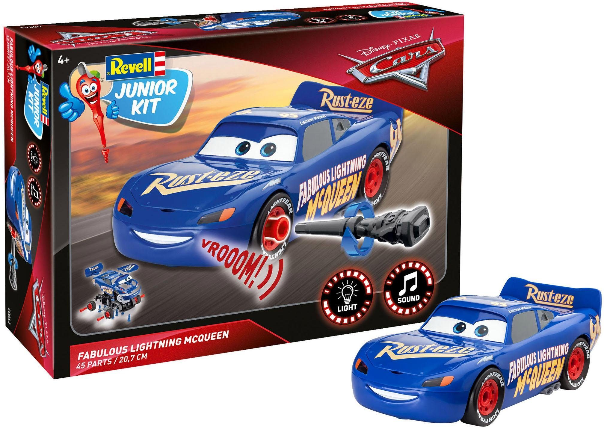 Revell Modellbausatz Auto m. Licht/Sound, »Junior Kit Disney Pixar Cars, Fabulous Lightning McQueen«