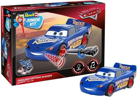 Revell® Modellbausatz »Junior Kit Disney Pixar Cars, Fabulous Lightning McQueen«, Maßstab 1:20