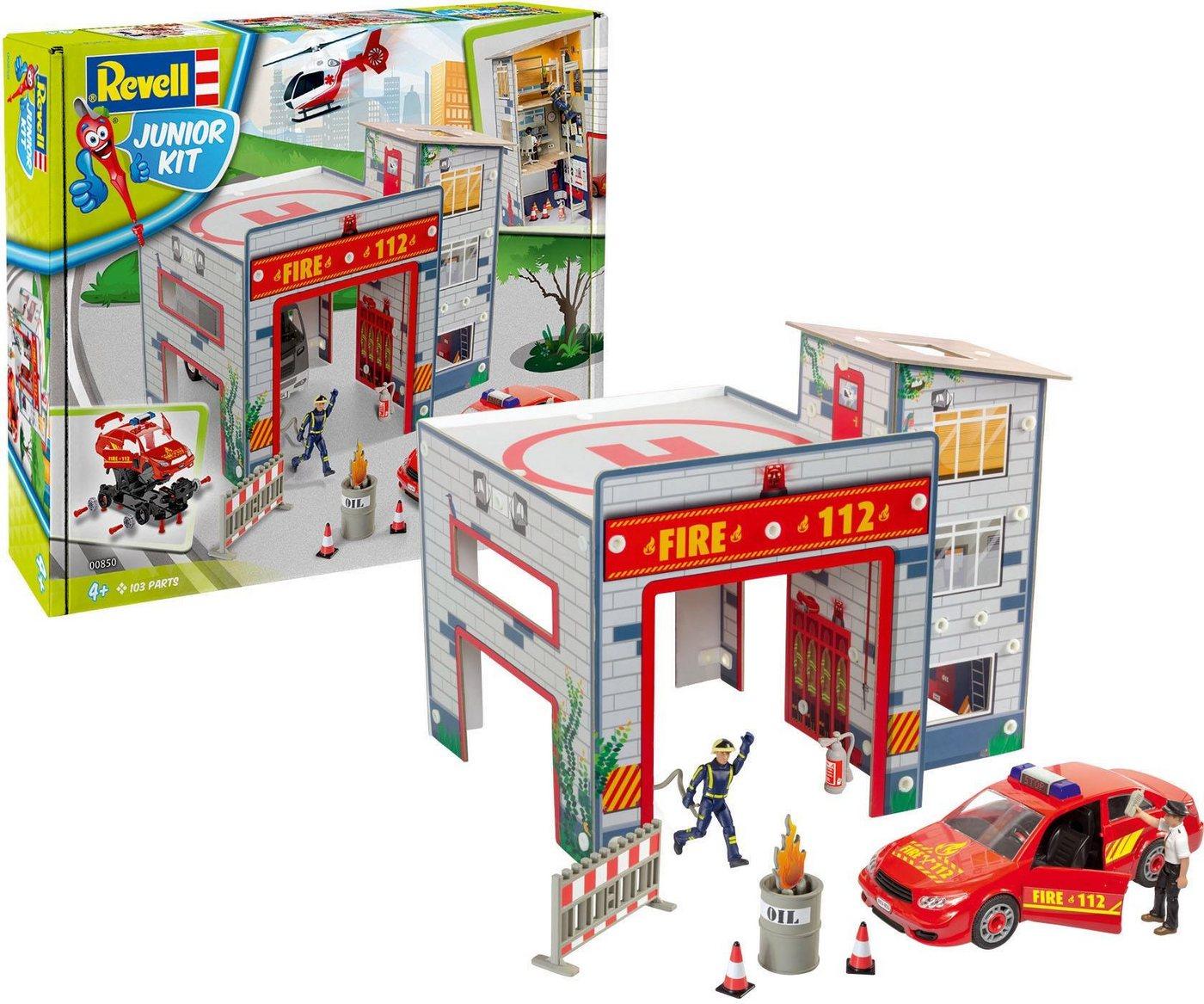 Revell Modellbausatz Auto und Gebäude, »Junior Kit Spielset Feuerwache«